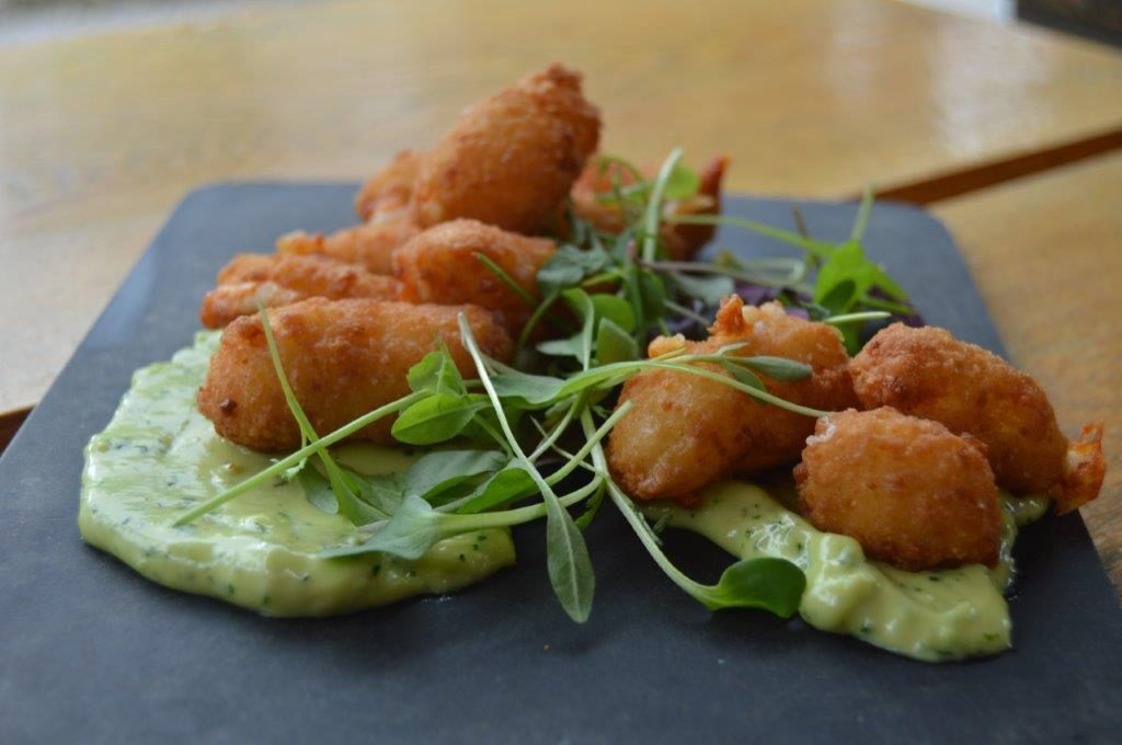 Cheese Curds with Wasabi Aioli